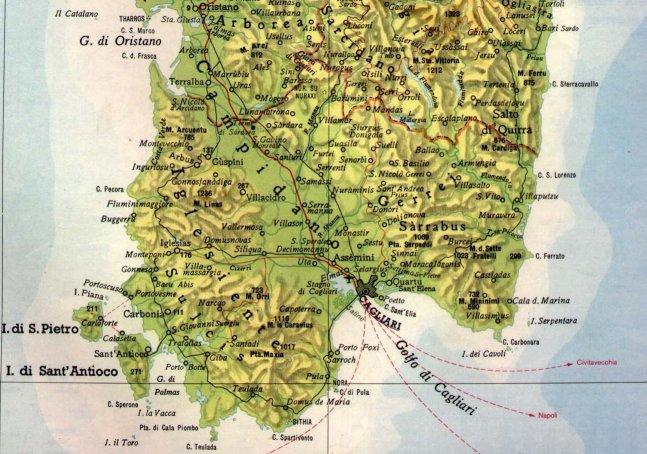 Cartina Geografica Di Cagliari.Cartine Storiche In Cui Appare Serramanna