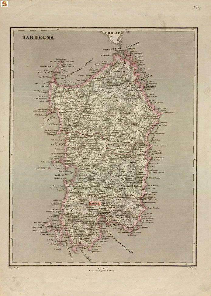 Cartina Sardegna Fiumi.Cartine Storiche In Cui Appare Serramanna